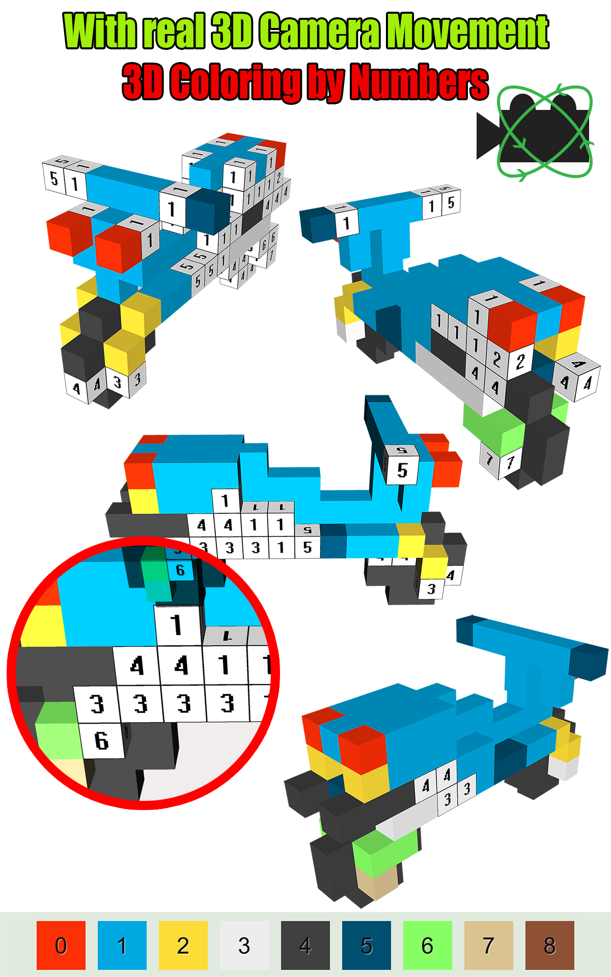 Amazon.com: Pixel Voxel 3D PixVoxNU Color by Numbers: Appstore for ...