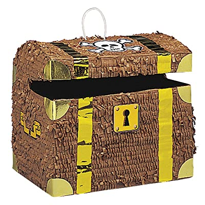 Pirate Treasure Chest Pinata: Kitchen & Dining