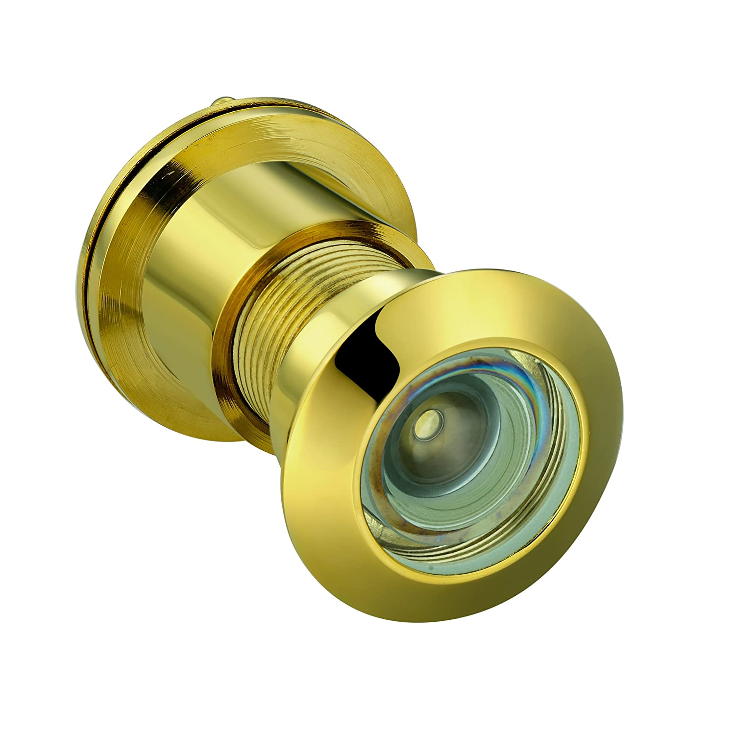 Ltd TOGU TG3828NG-SC Brass UL Listed 220-degree Door Viewer with Heavy Duty Privacy Cover for 1-3//5 to 2-1//6 Doors Polished Gold Finish Xiaxin hardware Products Co
