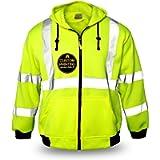 KwikSafety (Charlotte, NC) PATROL Safety Jacket (NO FUZZ Balls) Class 3 Hi Visibility Water Resistant ANSI OSHA High Vis…