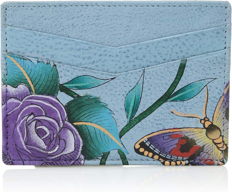 Credit Card Case Anuschka Womens Genuine Leather Wallet Hand Painted Original Artwork