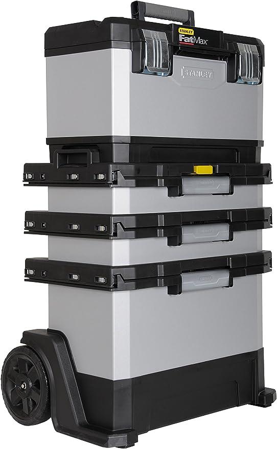 Stanley 1-95-622 FatMax - Taller de laminado de metal-plástico - Carro de herramientas, vacío - Caja de herramientas versátil para piezas pequeñas y grandes: Amazon.es: Bricolaje y herramientas
