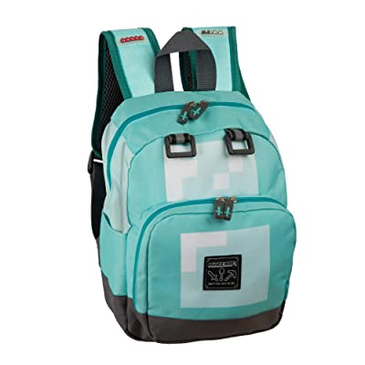 "JINX Minecraft Diamond Kids Mini Backpack, Blue, 12"": Clothing"