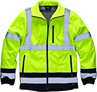 Protective Industrial Products Large Hi-Viz Yellow//Black Black Label Polyester 4-in-1 Reversible Jacket