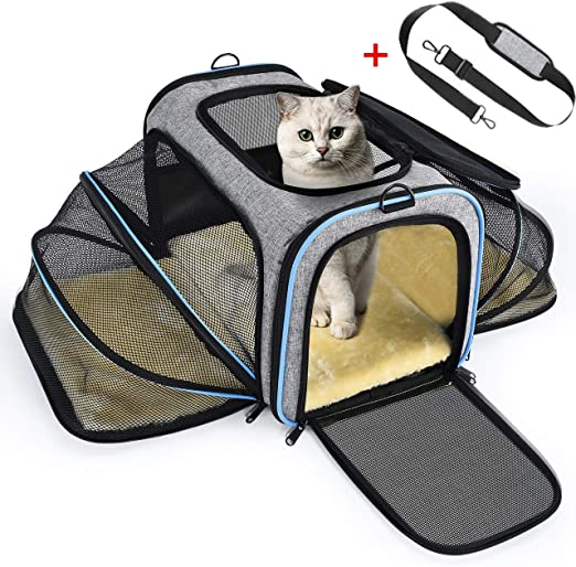 OMORC Transportin Gato Perro, Bolsa de Transporte Transpirable ...