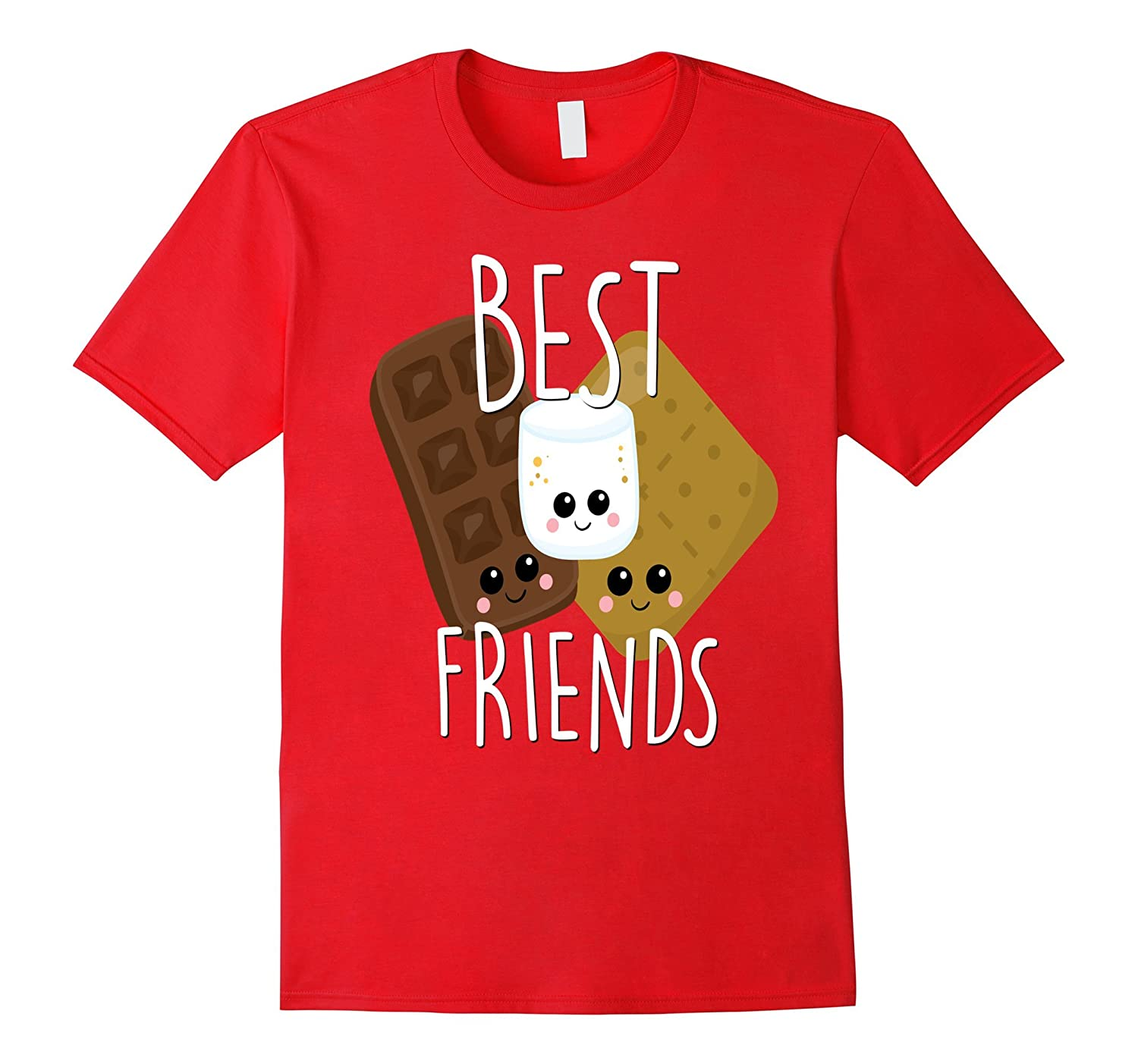Bestie Shirt Cute Food BFF Best Friend Smores Scouts Camping-T-Shirt