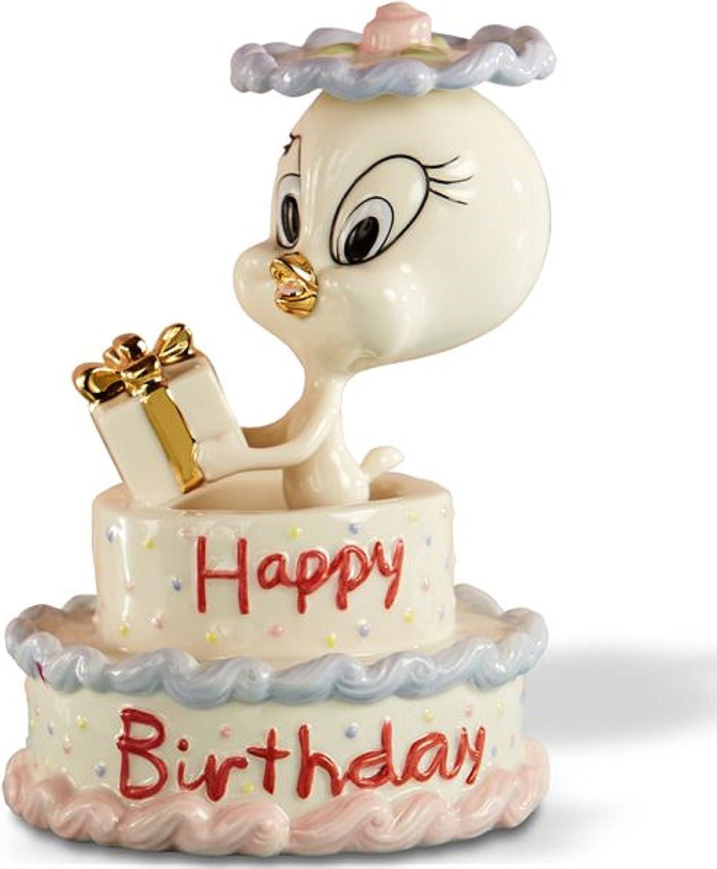 Astounding Amazon Com Lenox Tweetys Happy Birthday Cake Figurine Bird Gift Personalised Birthday Cards Cominlily Jamesorg