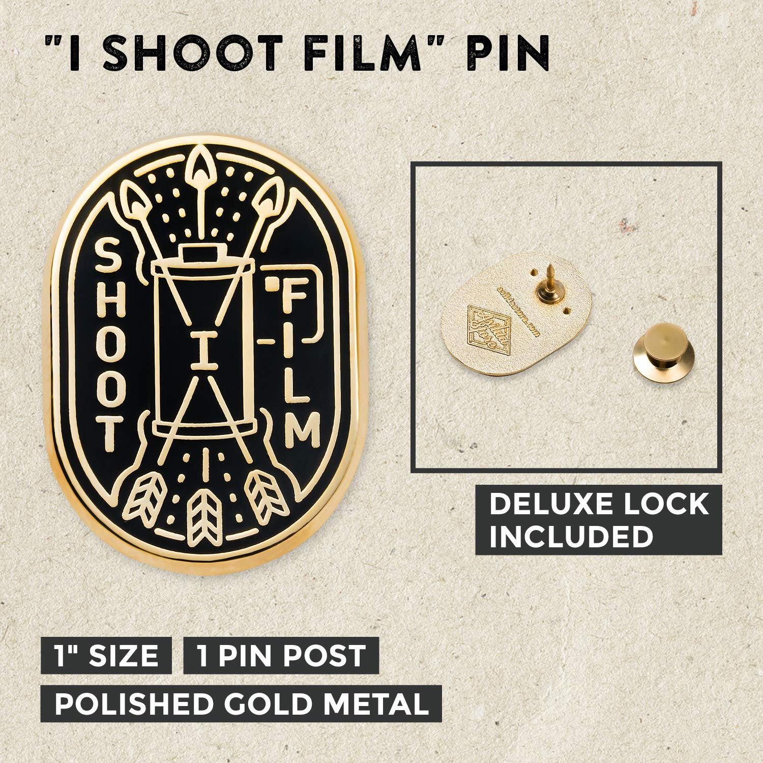 Asilda Store Lapel Enamel Pin with Deluxe Pin Lock Shoot with Purpose