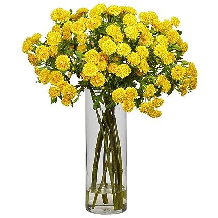 Amazon nearly natural 1216 yl japanese silk flower arrangement nearly natural 1216 yl japanese silk flower arrangement yellow mightylinksfo