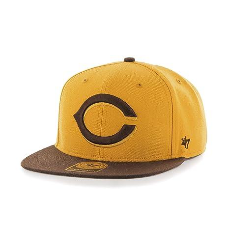 ff10917ec2250 MLB Cincinnati Reds No Shot Two Tone  47 Captain Snapback Adjustable Hat