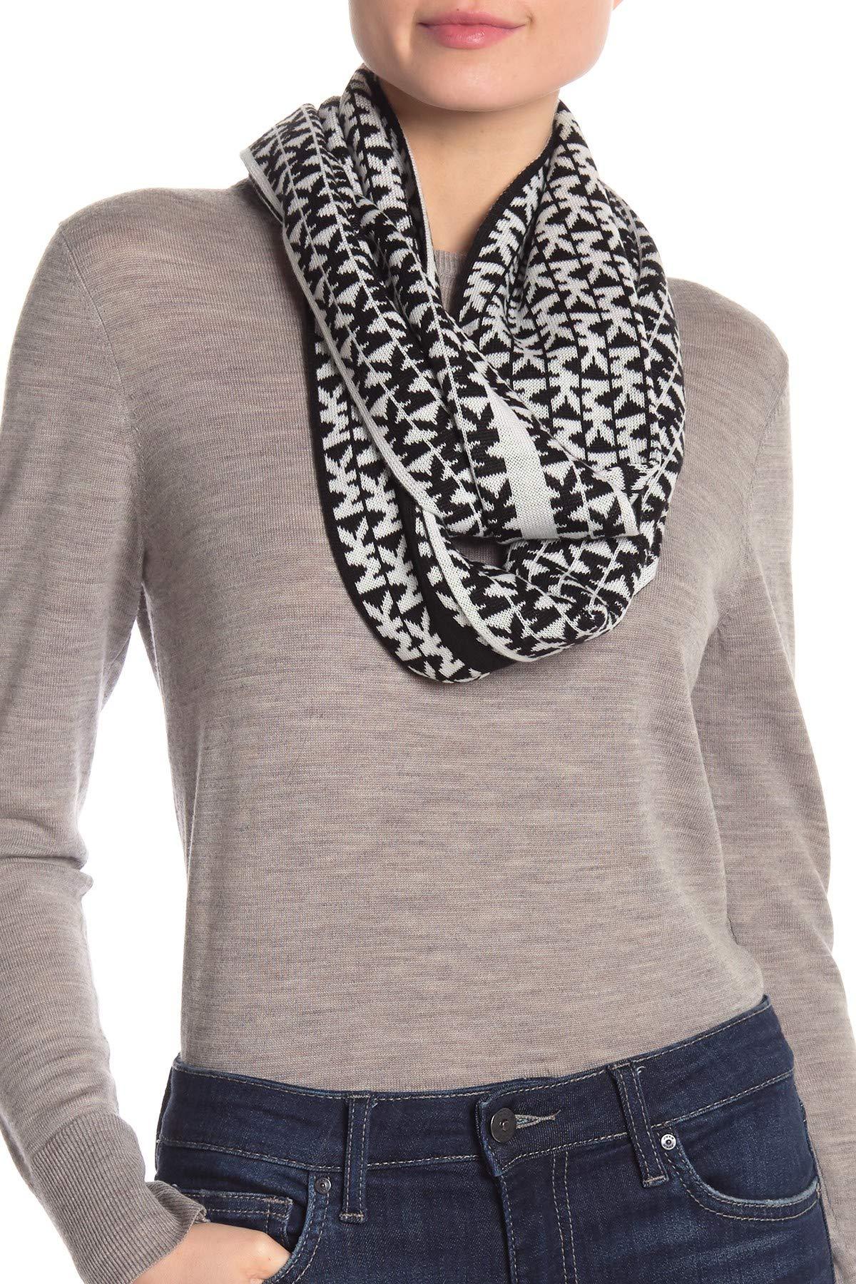 Michael Michael Kors Women`s Reversible Signature Logo Knit Scarf