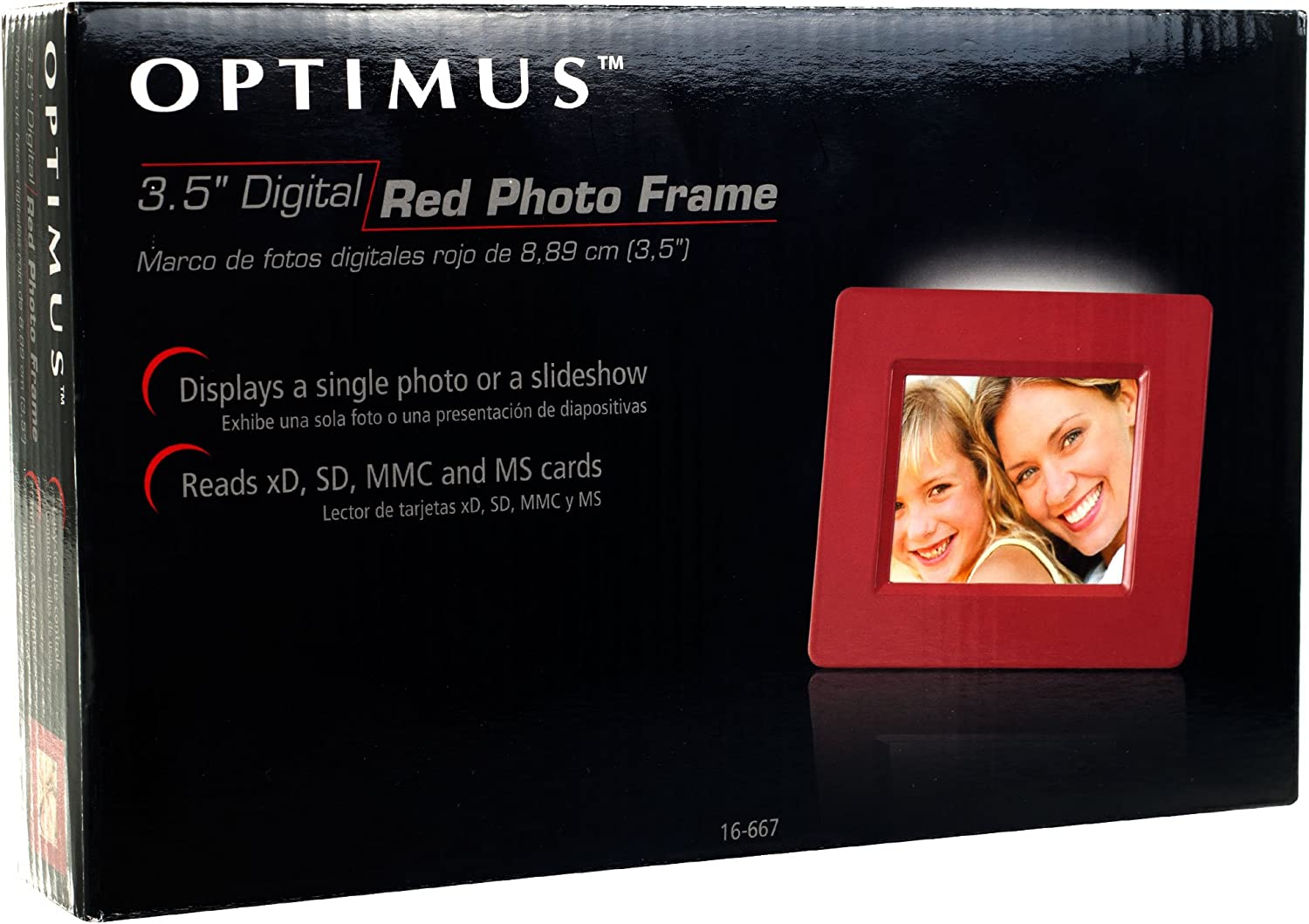 Pink 82-16668 Optimus 3.5-Inch LCD Digital Picture Frame