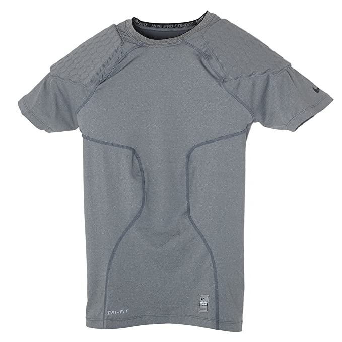 dd861fc1 Nike Men's Pro Combat Hyperstrong 2 Pads Football Compression Shirt  (XX-Large, Grey