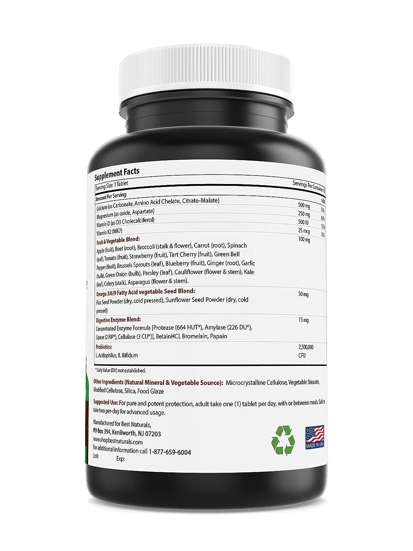 Amazon.com: Mejor Naturals Calcio basado en alimentos ...