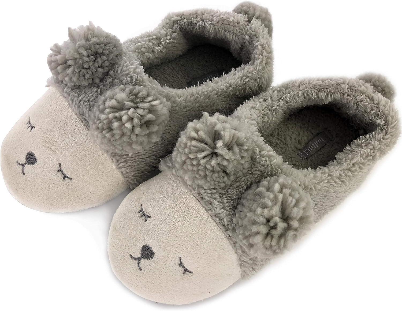OSVINO Pantoufles Femme Fille Hiver Animaux Rigolos Licorne//Lapin//Mouton Chausson Confortable Remplissage Chaud L/éger Chaussure Antid/érapant Chambre Cadeau