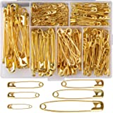 LUTER 250 Pieces 6 Sizes Safety Pins Large and Small Safety Pins Durable, Rust-Resistant for Art Craft Sewing Jewelry…