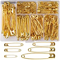 50pcs Each 19mm Hemline Brass Safety Pins Assorted Sizes 23mm 100pcs