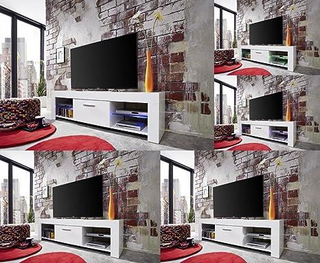 Mobile basso bianco tv della parte inferiore roma a specchio con