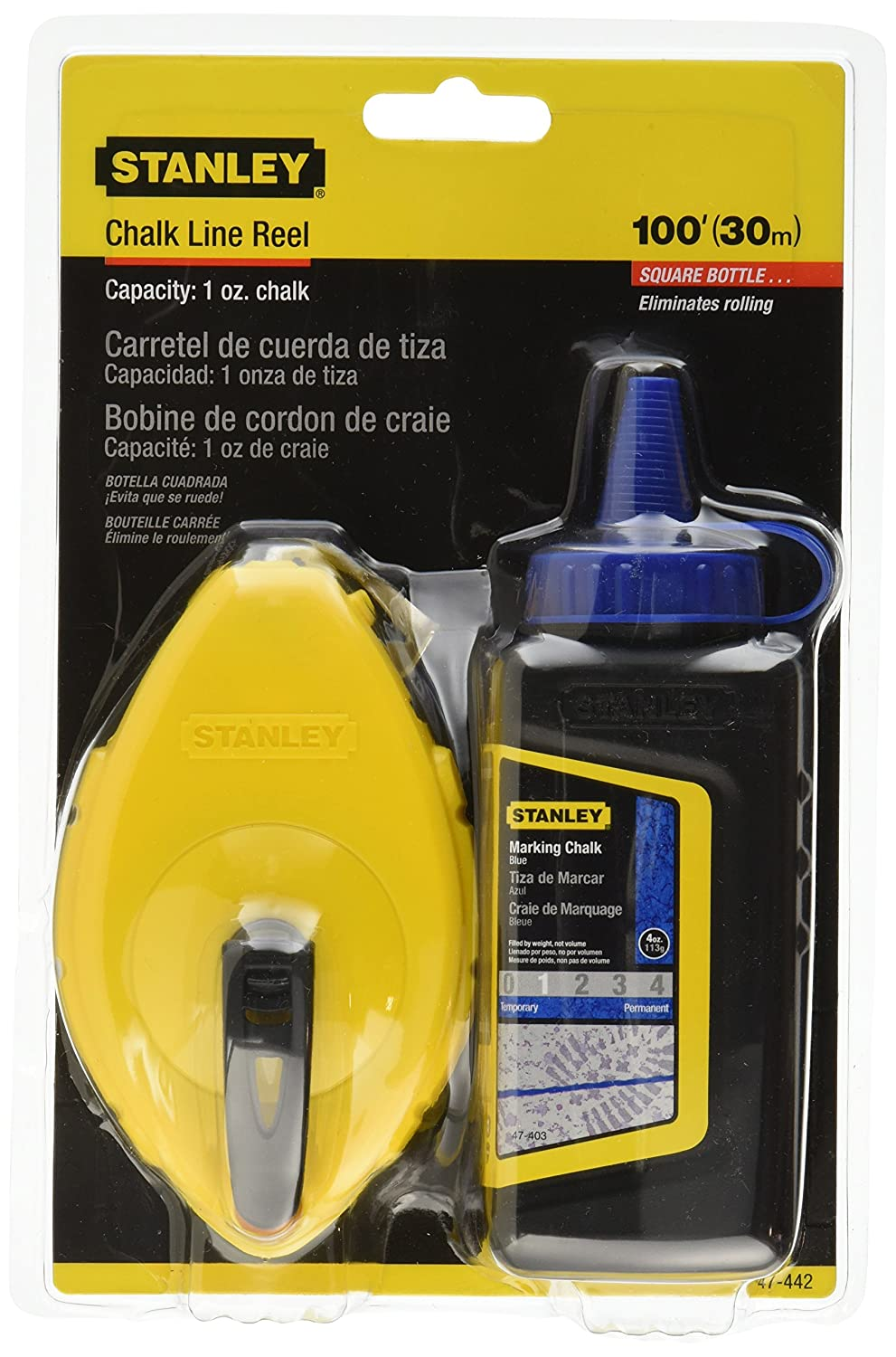 Stanley 47 442 Chalk Reel with Blue Chalk
