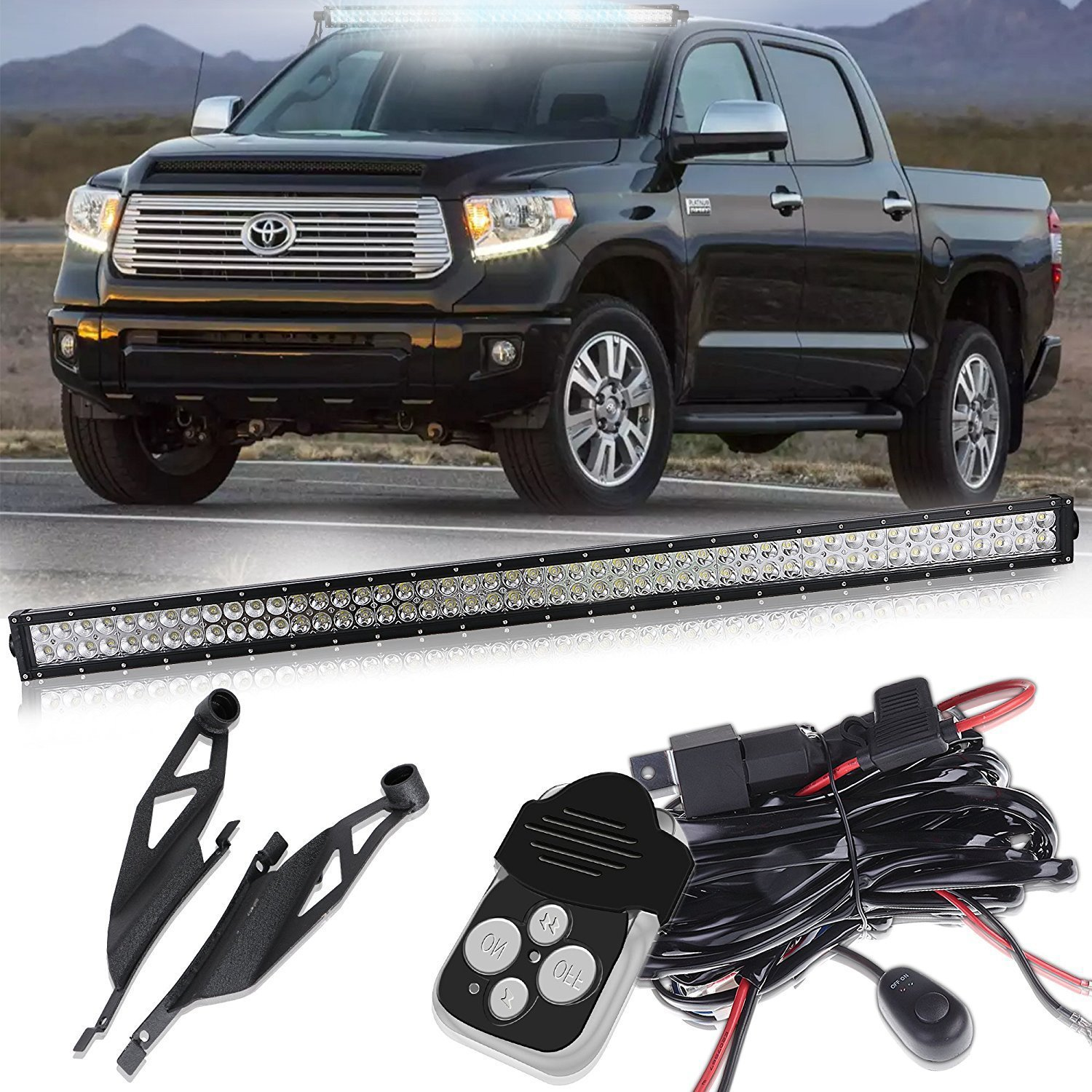 07 14 For Toyota Tundra 50inch Led Light Bar W Wiring