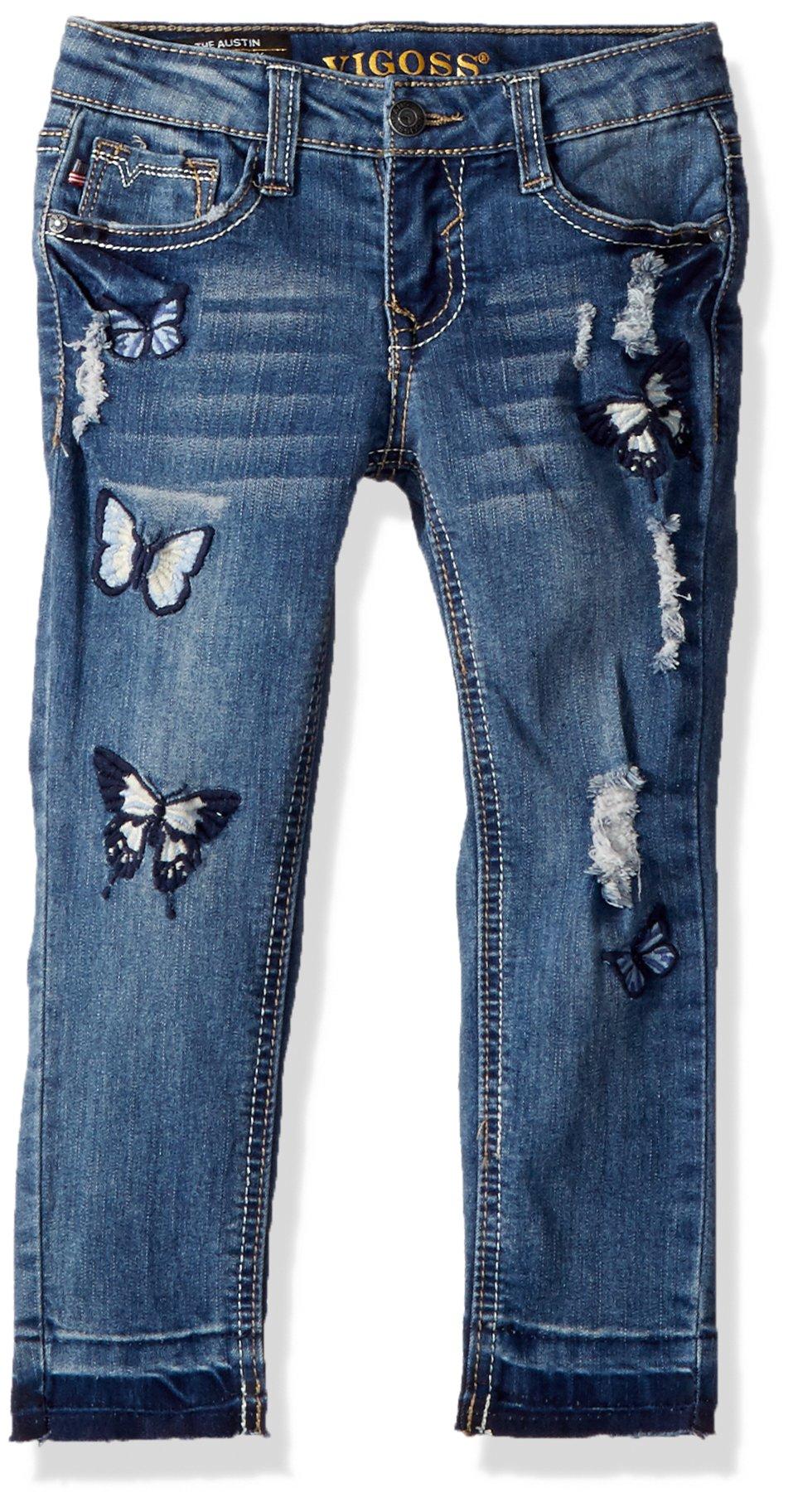 VIGOSS Little Girls' Fashion Jean, Freezer Blue, 4