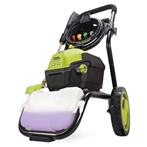Sun Joe SPX4500 2500 PSI MAX 1.48 GPM High Performance Motor Electric Pressure Washer, Green
