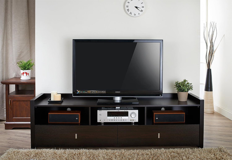 Amazon Com Iohomes Morenti Tv Stand 72 Inch Cappuccino Kitchen  # Pinterest Meuble Tv