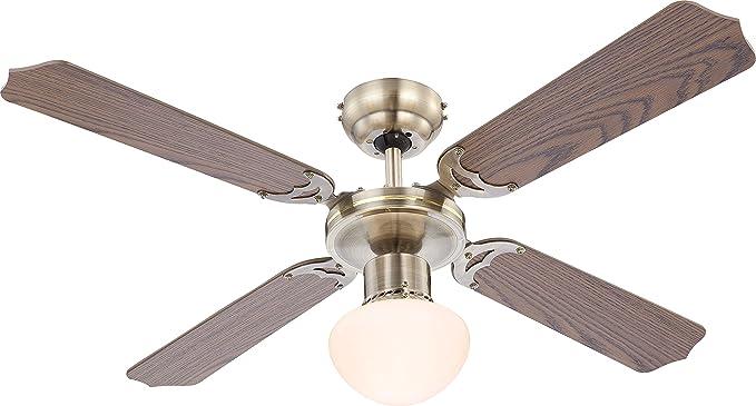 Plafoniere Con Pale : Ventilatore da soffitto vinco pale con luce