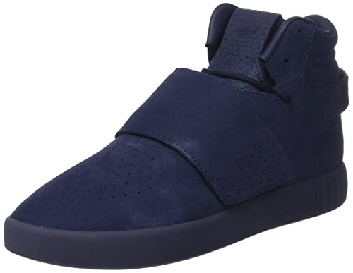 new arrival 34a07 e6628 adidas Men s Tubular Invader Strap Hi-Top Trainers, Trace Blue Footwear  White,