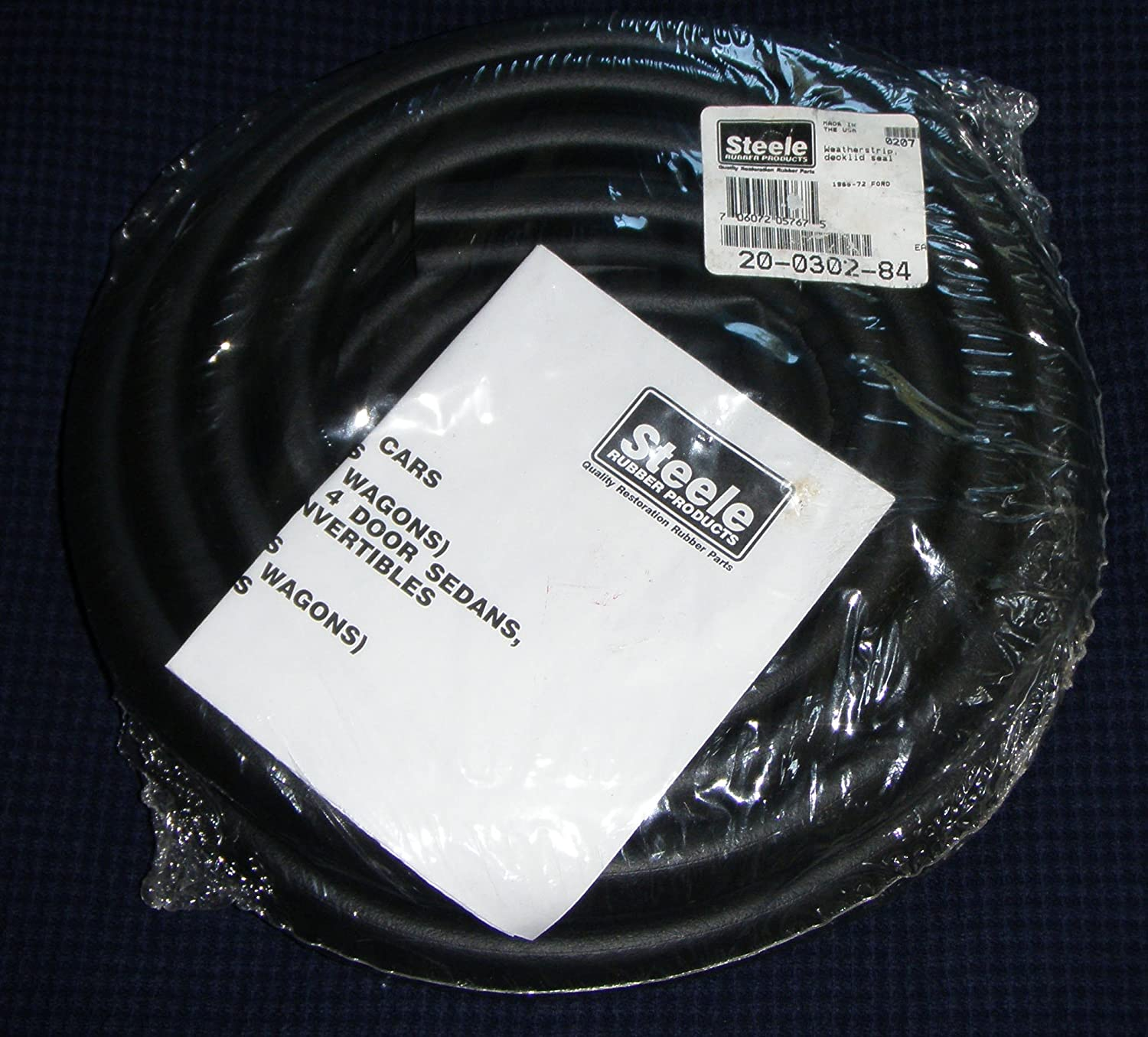 Steele Rubber Products 20-0302-84 Trunk Weatherstrip Seal