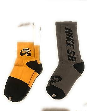 Nike Kids Skater SB Crew – Calcetines 2 PACK amarillo/blanco/gris juventud 3Y