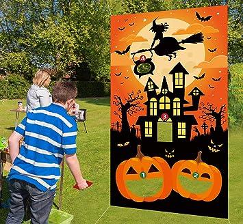 Phenomenal Halloween Bean Bag Toss Games 3 Bean Bags Pumpkin Haunted House For Kids Party Decor Funny Props Creativecarmelina Interior Chair Design Creativecarmelinacom