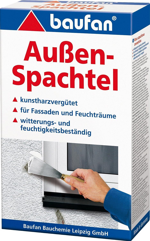 5Kg Auß enspachtel Spachtelmasse witterungsbestä ndig kunstharzvergü tet Baufan