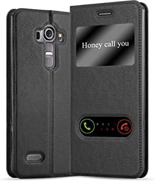 Cadorabo Funda Libro para LG G4 / G4 Plus en Negro Cometa: Amazon.es: Electrónica