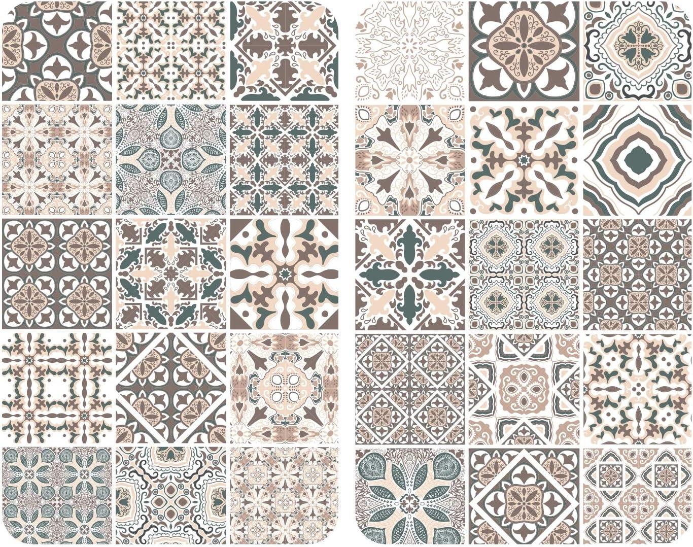 WENKO Placas cobertoras de vidrio universal Azulejo, Cubierta de cocina, juego de 2 unidades, para todos los tipos de cocinas, Vidrio endurecido, 3030 x 1.8-5.5 x 5252 cm, Multicolor