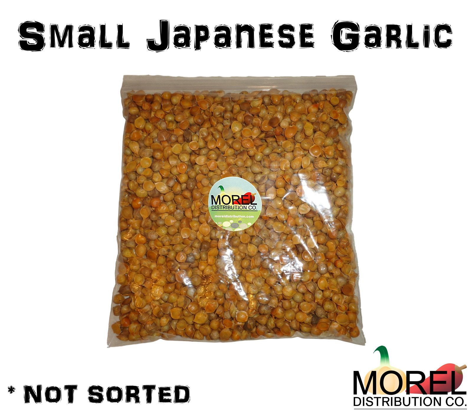 (Small Japanese Garlic-Ajo Japones) (100% Natural) // 1 LB // *Not Sorted