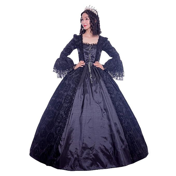 KEMAO Rococo - Vestido Victoriano del Siglo XVIII para ...