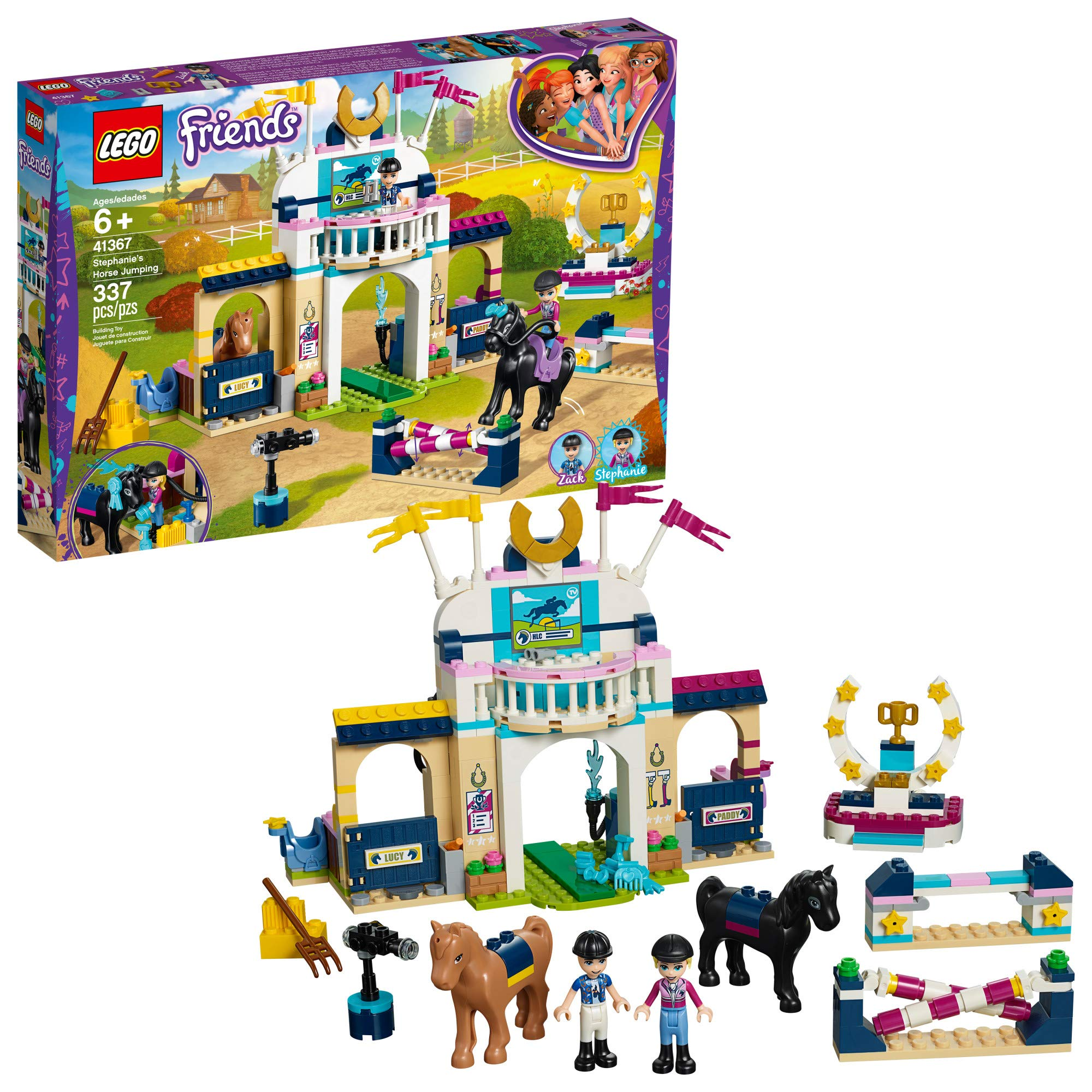 LEGO Friends Stephanie's Horse Jumping 41367 Kit de construcción (337 piezas)
