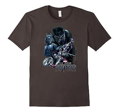 Mens Marvel Black Panther Movie Okoye Nakia Group T-Shirt 2XL Asphalt