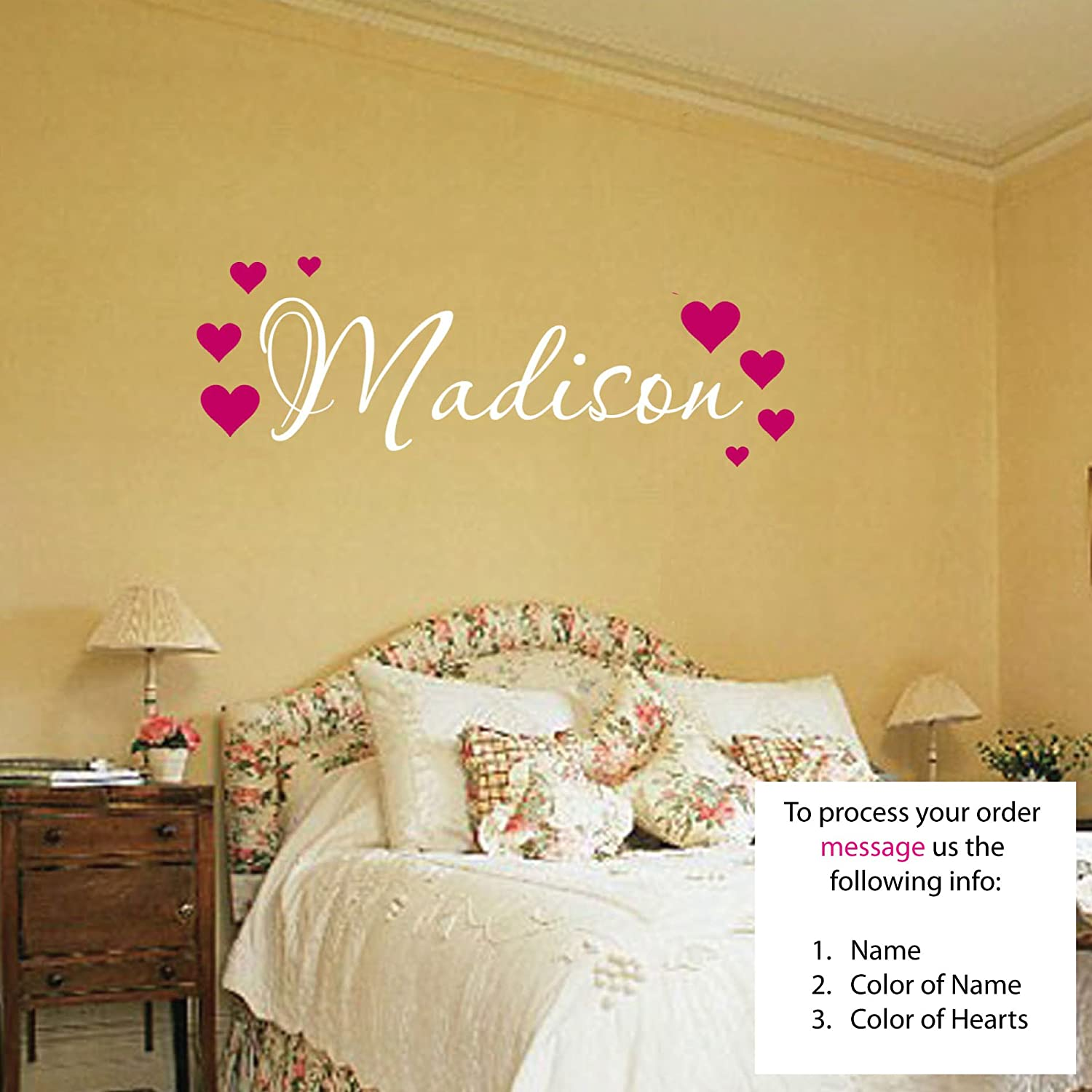 Amazon.com: Madison Wall Decal Childrens Personalized Name ...