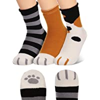 Cat Claw Socks Cotton Warm Cat Paw Socks for Women Cozy Cat Slipper Socks