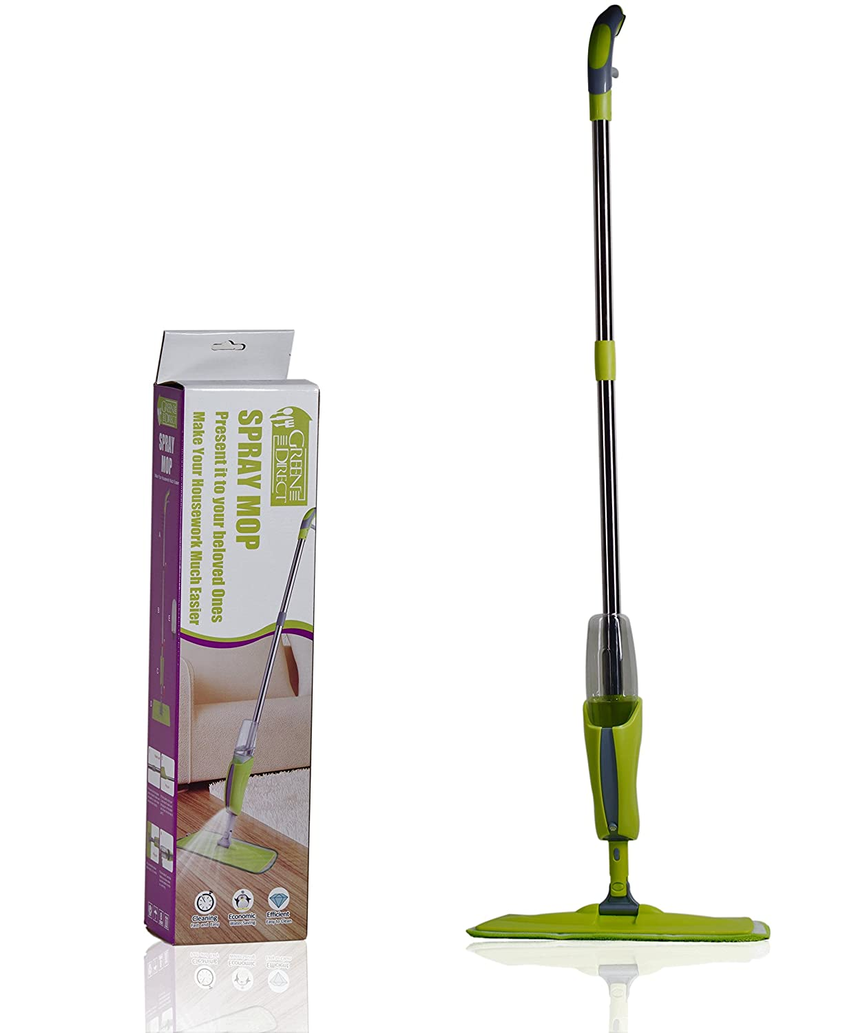 Amazon green direct hardwood floor mops for floor cleaning amazon green direct hardwood floor mops for floor cleaning laminate floor cleaner spray mop kits home kitchen dailygadgetfo Choice Image