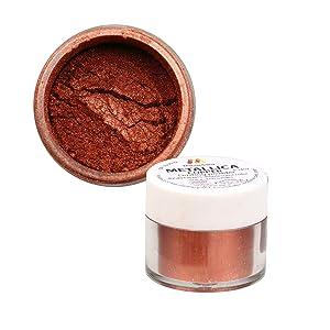 Mendelberg Food-Color Dusting Powder, Metallic Copper 0.14 Ounce