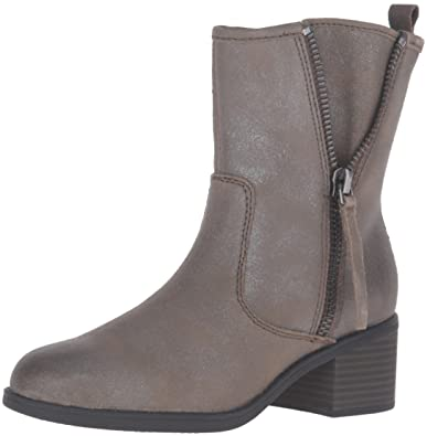 72cf001eb07 CLARKS Women s Nevella Devon Boot Dark Taupe Leather 6.5 ...