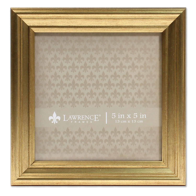 Lawrence Frames 5x5 Sutter Burnished Gold Picture Frame by Lawrence Frames