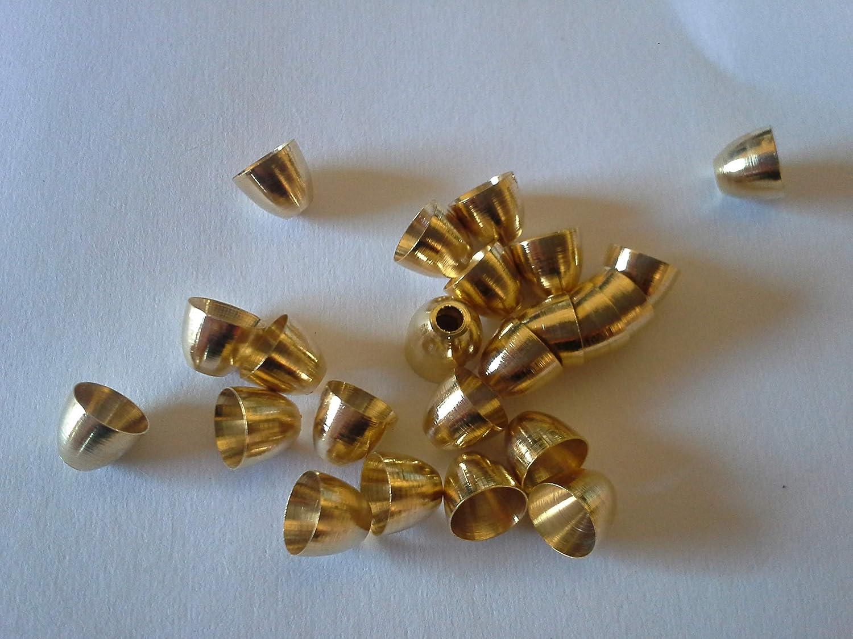 Fliegenbinden Conehead Kopfperlen goldfarben 6,0mm, 25Stück