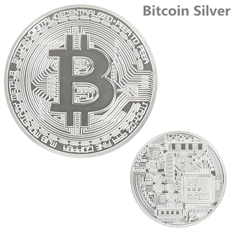 Bitcoin desafío moneda Classic Set de coleccionista | la edición limitada original dorado y bañado en plata y hecho de cobre rojo puro conmemorativa ...
