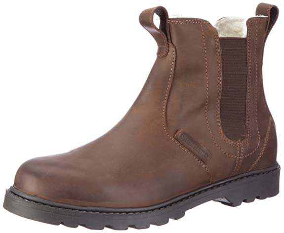 Mens 211020 Warm lined Chelsea boots short length Shepherd xHYXd