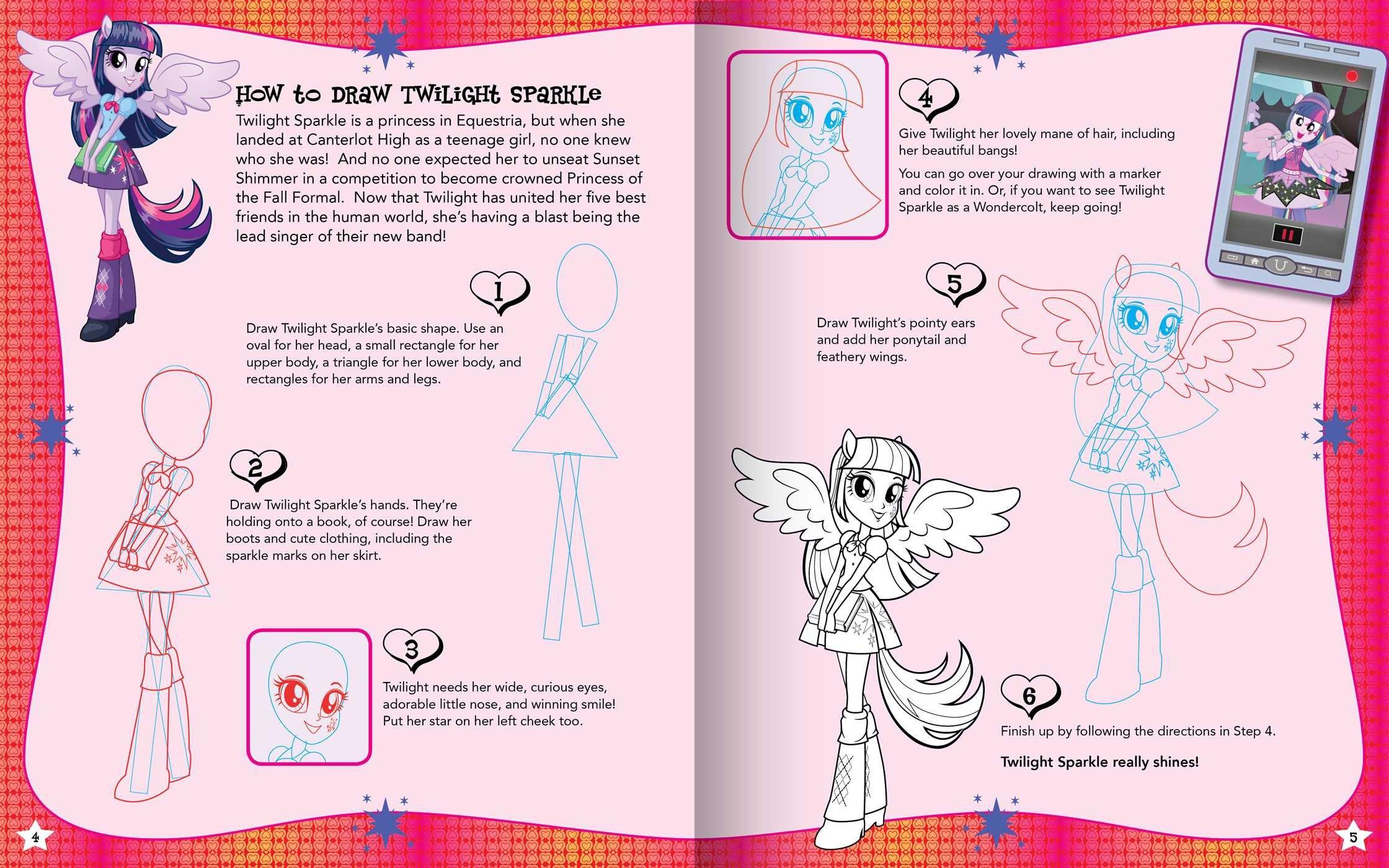 My Little Pony: Equestria Girls: I Love To Draw!: My Little Pony:  9780794432096: Amazon: Books