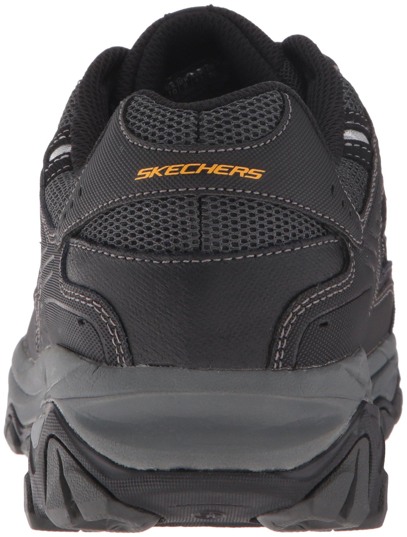 Skechers Men's AFTERBURNM.FIT Memory Foam Lace-Up Sneaker, Black, 6.5 M US by Skechers (Image #2)